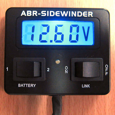 Dual Battery System Monitor 12V Volt Meter Abr - New. Full Instructions Provided