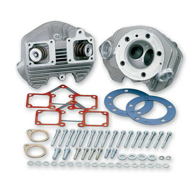 """S&S Head Kit BT'66-84 3-1/2"""" Stk Bore Late Intake .590' Lift Natural"""
