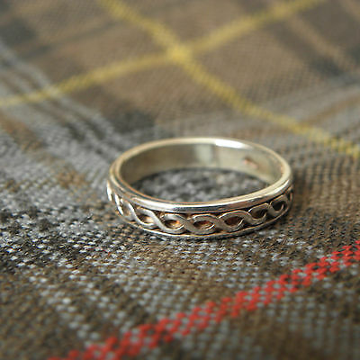CELTIC KNOT Sterling SILVER RING ~ Size 7 ~ Made in Scotland Knotwork FAST SHIP