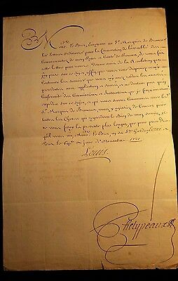 KING LOUIS XV AUTOGRAPH - Letter to the President of the Parlament d'Aix - 1721