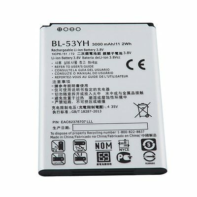 Safe 3000mAh BL-53YH Li-ion Battery For LG G3 G 3 VS985 F400 D850 D855 D830 LX