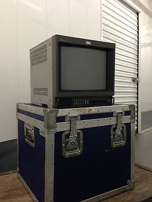 Sony pvm-14m4u Color Production Monitor w/ Strong Case