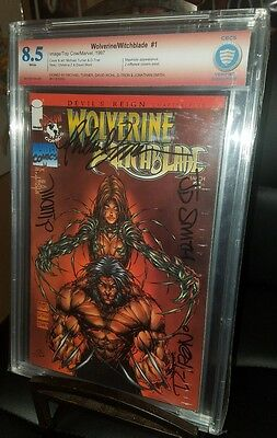 Wolverine Witchblade #1 Mephisto CGC 8.5 Signed by Turner, Wohl, D-Tron & Smith