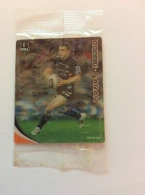 2010 Nrl Footy Plays Tazos Wests Tigers Robbie Farah - New And Sealed
