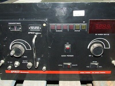 EPSCO Microwave EP250C CW Pulse Signal Source w/ M8060H Plug-in 700 - 1200 MHz