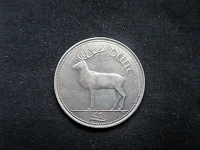 1 Pound Ireland 1990 - Red Deer #5485