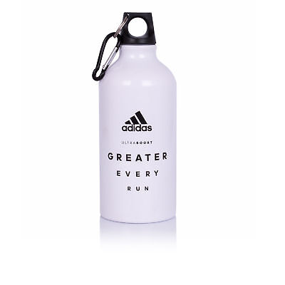Adidas Greater Every Unisex White Running Drink Hydration Metal Water Bottle