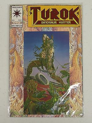 1993 Valiant Comic Book No. 1 Turok Dinosaur Hunter Foil Cover Nip