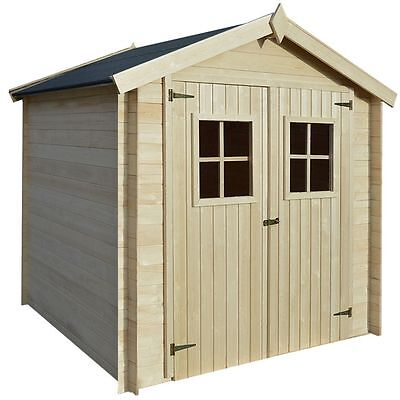 garden house shed log timber cabin 2x21 m wood 19mm