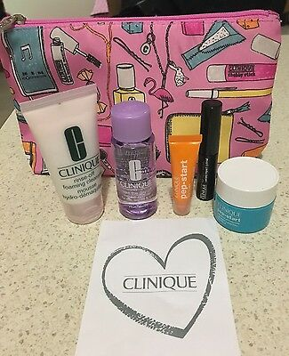 Clinique 6 piece gift set - Cleanser, Mascara, PepStart, Makeup Remover, Etc
