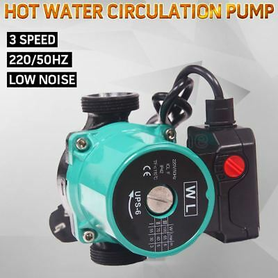 3 Speed Hot Water Circulation Pump Booster Heating System 65L/Min Up to 110°C