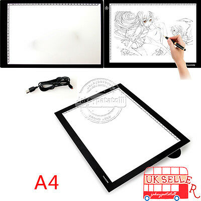 AU Large A4 LED Ultra Slim Art Craft Tracing Tattoo Light Box Pad Board Lightbox
