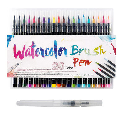 20 Colour Pens Set Watercolor Drawing Painting Brush Artist Sketch Manga Marker