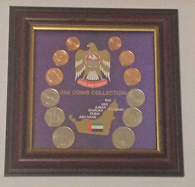 EMIRATES UAE COINS COLLECTION - Framed Collectors Item