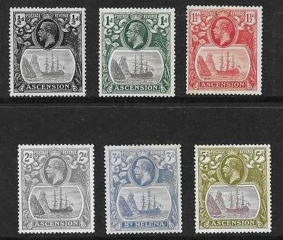 ASCENSION  VALUES FROM 1924/33 SET  SG 10/11, 13/14 & 15d   FINE MOUNTED MINT