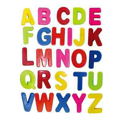 Colorful Abc Alphabet Fridge Magnets Early Letter Magnetic Educational Toy 26 Pc