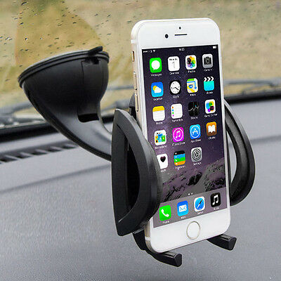 360° Universal In Car Windscreen Holder Dashboard Mount For Cell Phone iPhone 8