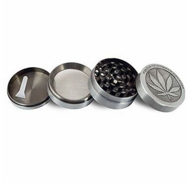4 Piece Grinder Tobacco Herb Spice Weed-Crusher 2 Inch Zinc Alloy Smoke Metal US