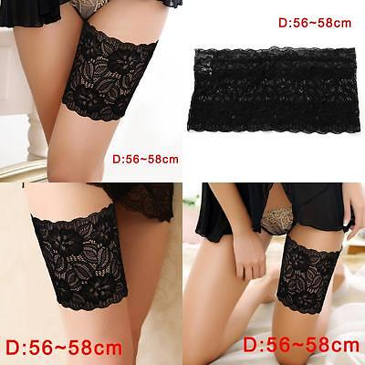 Women Summer Lace Elastic Socks Anti-Chafing Thigh Bands Prevent Sock Nice D