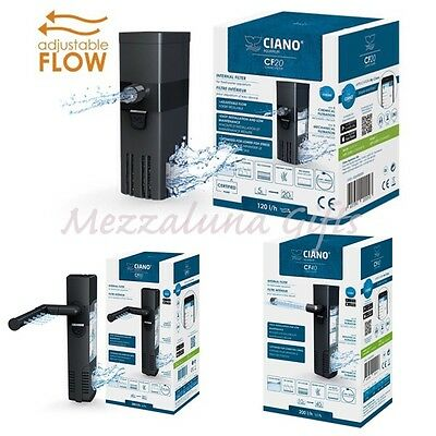 Ciano CF20 CF40 CF80 Internal Adjustable Flow Aquarium Fish Tank Filter -3 sizes