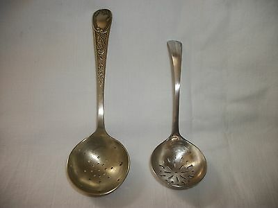 Two Different Epns Sugar Sifter Ladles ( See Photo's ).