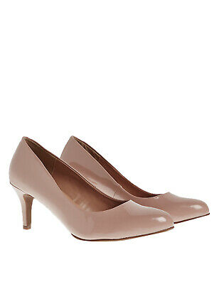 Marks and Spencer Wide Fit Stiletto Almond Toe Court Shoes Size 3 - 8