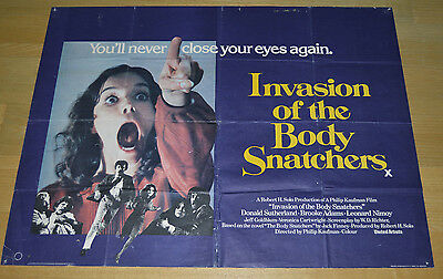 Invasion Of The Body Snatchers 1978 UK Quad Poster Horror