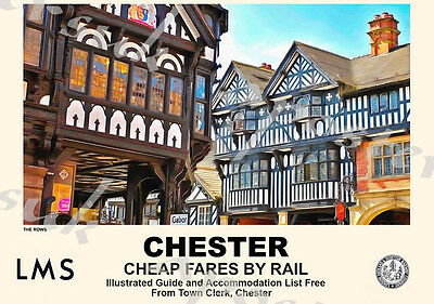 Vintage Style Railway Poster Chester A4/A3/A2 Print
