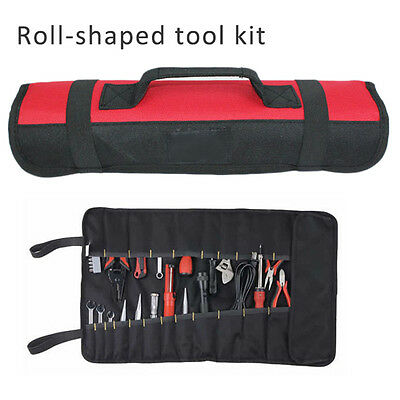 Hand Tools Roll Up Pouch Wrench Plier Screwdriver Spanner Carry Case Organizer