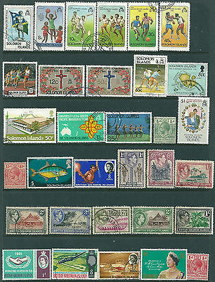 32 Solomon Islands Stamps , mainly Used (N)