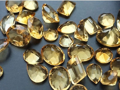 40 Pcs WHOLESALE Citrine Cabochon Lot Faceted Calibrated Citrine, Orange Citrine
