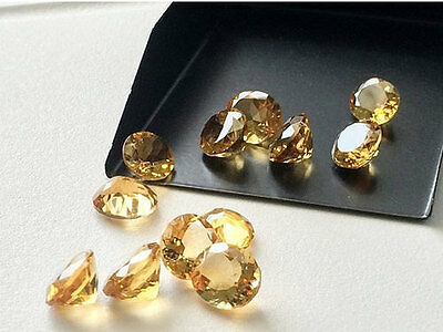 20 Pcs Oval Faceted Calibrated Citrine Cabochon, 10.25 Carat, Loose Cabochons