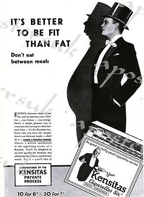 Vintage Lucky Strikes Lose Weight By Smoking Advetisement Poster A3//A4 Print