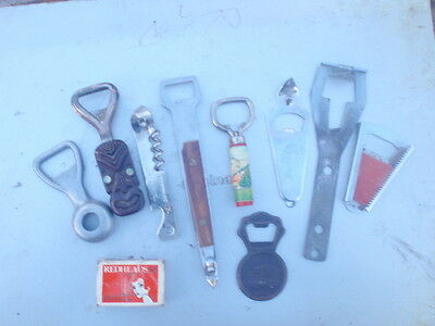 bottle  openers  9 different