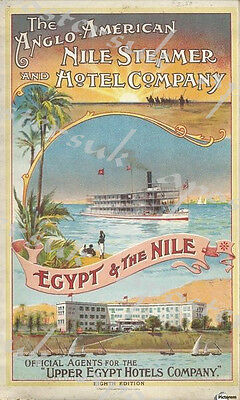 Early 20th Century Nile Cruise Egypt Tourism Poster A3/A4 Print