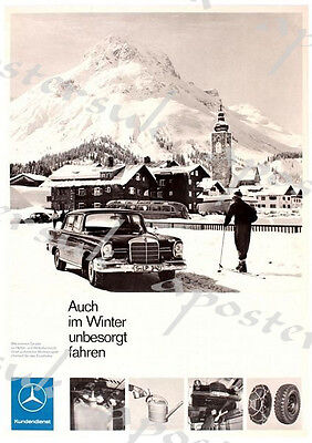 Vintage German Mercedes Benz Advertisement Poster A3/A4 Print