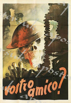 World War Two Italian Anti British Propaganda Poster A3/A4 Print