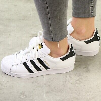 Adidas Originals Superstar Junior Schuhe Sneaker Damen Kinder Weiß C77154