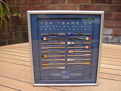 SYDNEY 2000 OLYMPIC GAMES 104 Years Of Participation Rowing Oars Oar Plaque