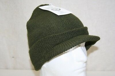 Mil-Spec Military Army Usmc Navy Od Green 100% Knit Wool Jeep Cap Mash Radar Hat