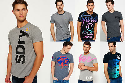 New Mens Superdry T-Shirts Selection - Various Styles & Colours 2208