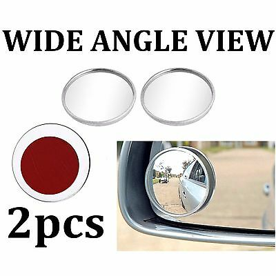 2x Car Safety Blind Spot Mirrors Wide Angle View Towing Reversing Learner Driver