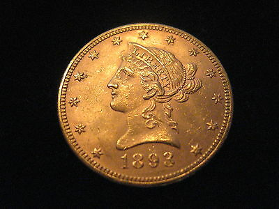 "Mds Usa 10 Dollars 1893 ""coronet Head - Eagle"", Gold"
