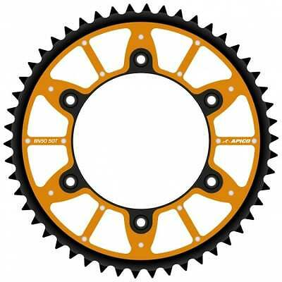 Apico Xtreme Alloy/ Steel Rear Sprocket - KTM SX/EXC 125-620 90-17 46T ORANGE