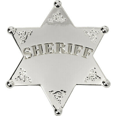 6-Point Old West Sheriff Badge     -Silver