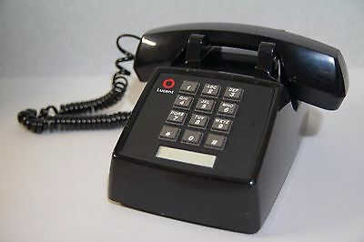 Lucent Basic Desk Phone 2500-MMGM Black Single Line Analog AT&T Telephone