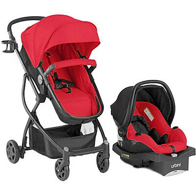 RED STROLLER BABY CAR Urbini Travel System SEAT INFANT Child Carriage newborn