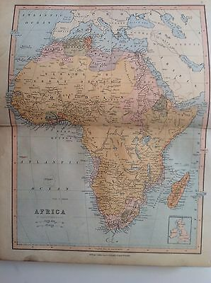 Africa, Antique Map c1880, William Collins, Atlas