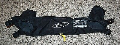 BOB stroller black nylon cup holder attachment handlebar accessory EUC