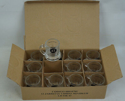 (Wholesale Case of 12) Licor 43 Glass Mini Beer Mug Sampler Shot Glasses New